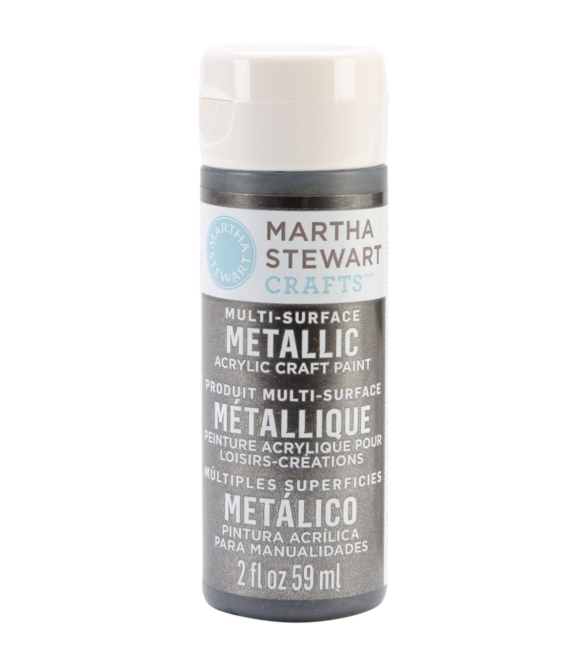 Martha Stewart Metallic Acrylic Craft Paint 2 Oz   Champagne