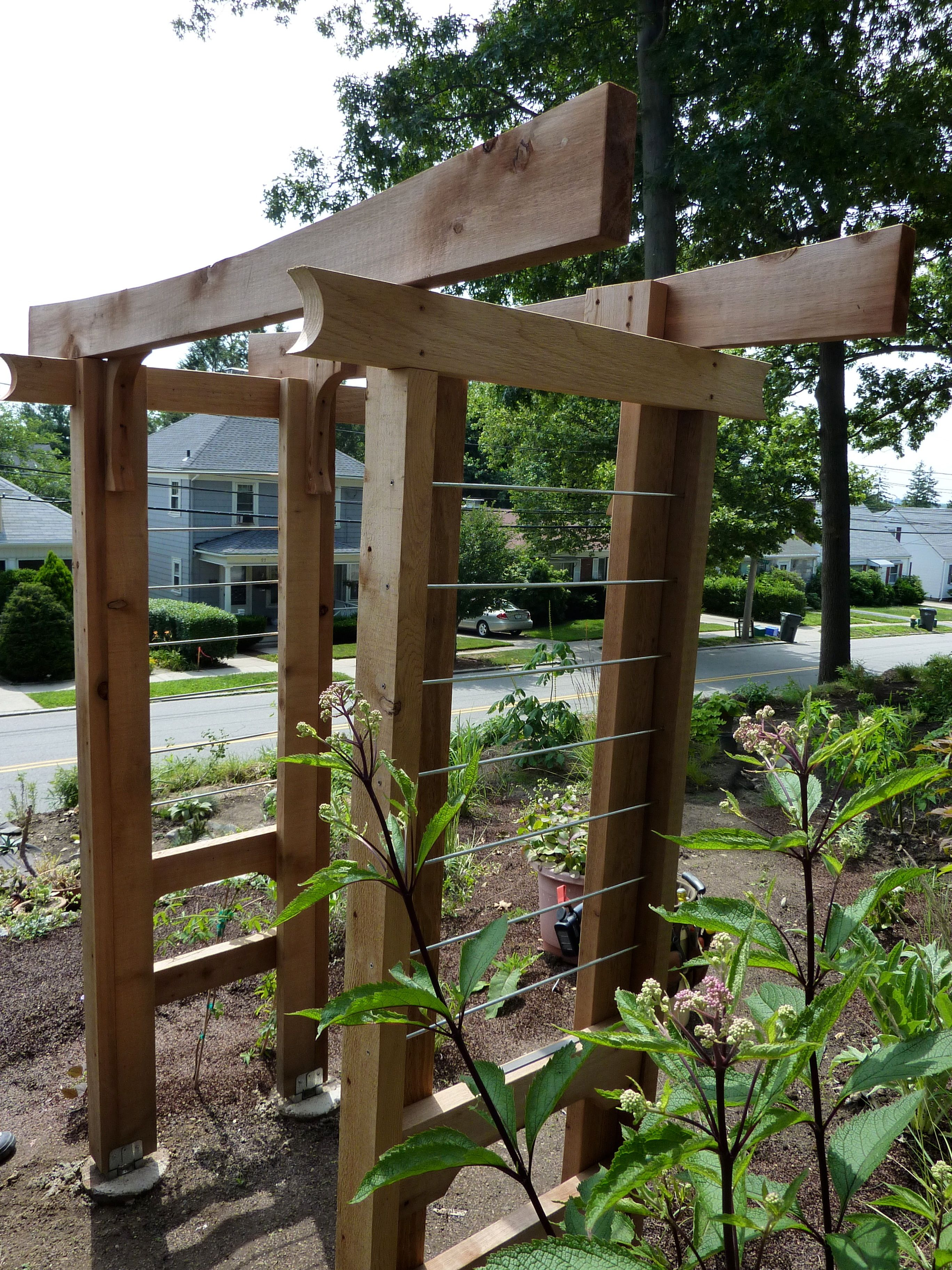 DIY Arbor Trellis | Pinterest | Metal trellis, Arbors and Wood trellis