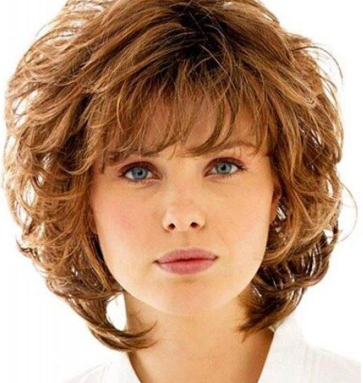 Short To Medium Hairstyles short to medium hairstyles and get ideas how to change your hairstyle Curly Shag With Wispy Bangs Curly Shag Haircuts For Short Medium Long Curls