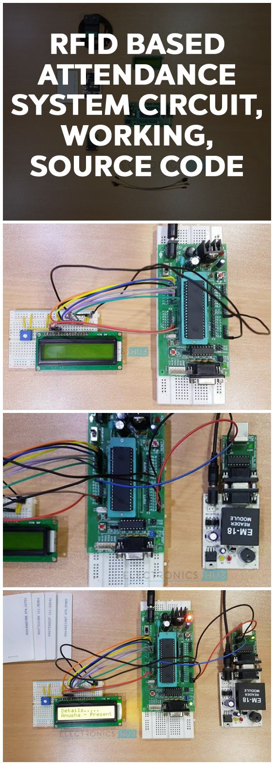 Rfid Based Attendance System Circuit Using Microcontroller Electronics Board 8051 Projects Power Supply Design In This Article We Have Implemented Two Different