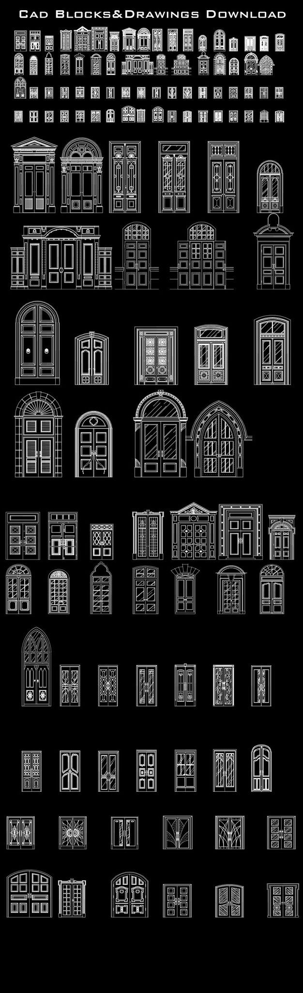 Best door design ideas cad design free cad blocks for Online cad drawing