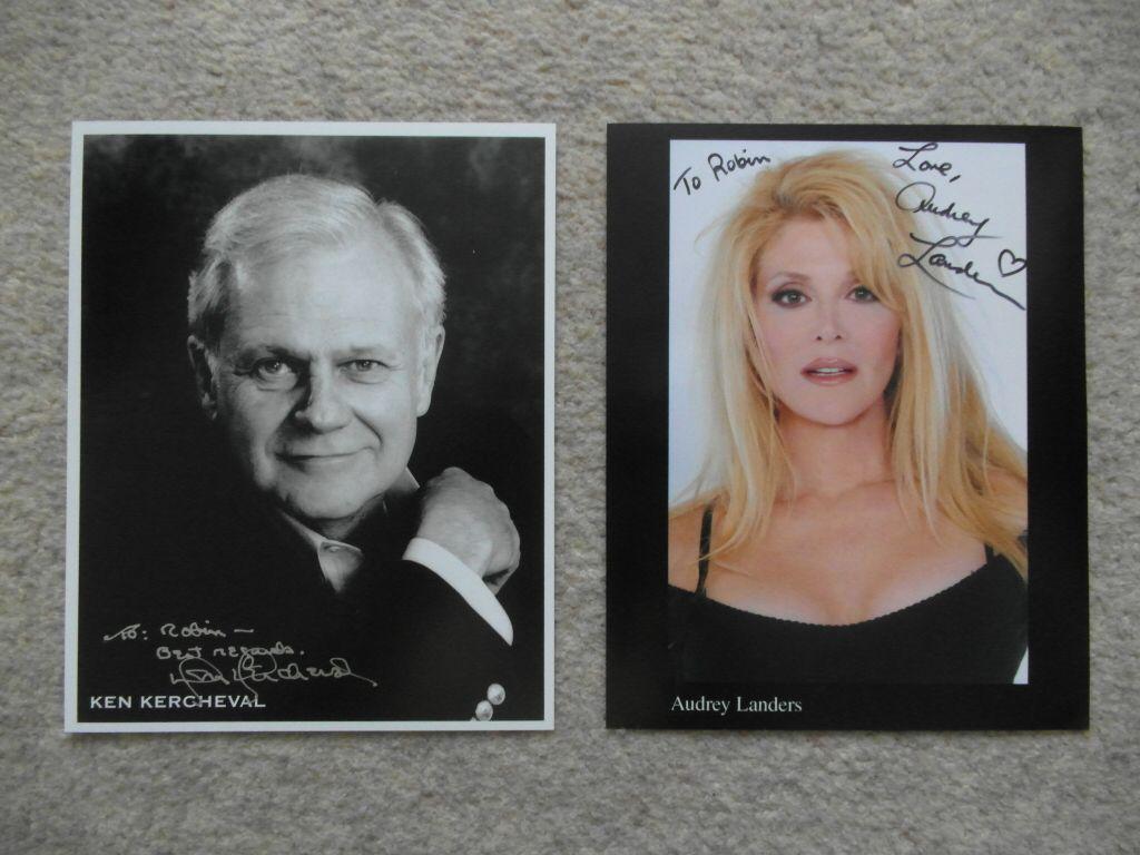 Audrey Landers Dallas autographed ken kercheval and audrey landers photos (may