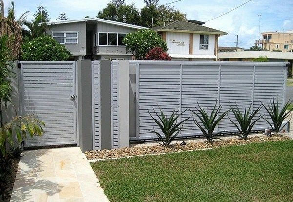 Aluminum Fencing Ideas Stylish House Exterior Design Fence