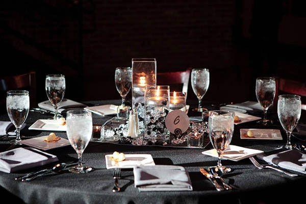 Grey Wedding And Pretty Centerpieces