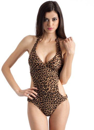 $30.00 New Shoes: Leopard Halter Ring-Side Monokini  From Marina   Get it here: http://astore.amazon.com/ffiilliipp-20/detail/B0081JJXC8/189-3814005-1741568