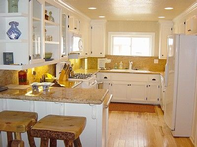 hickory floors with white cabinets | Dream house in the ...