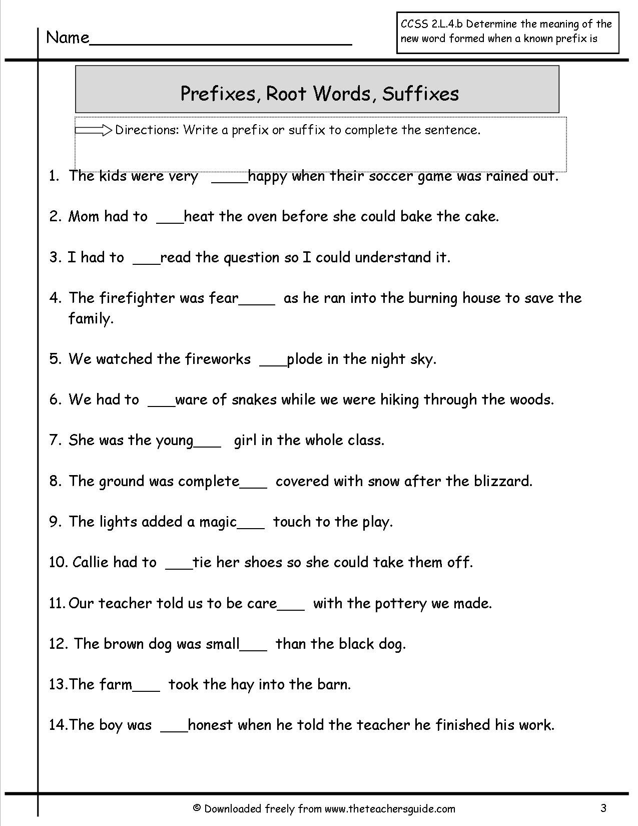 Prefixes suffixes worksheet special ed and counseling prefixes suffixes worksheet robcynllc Images