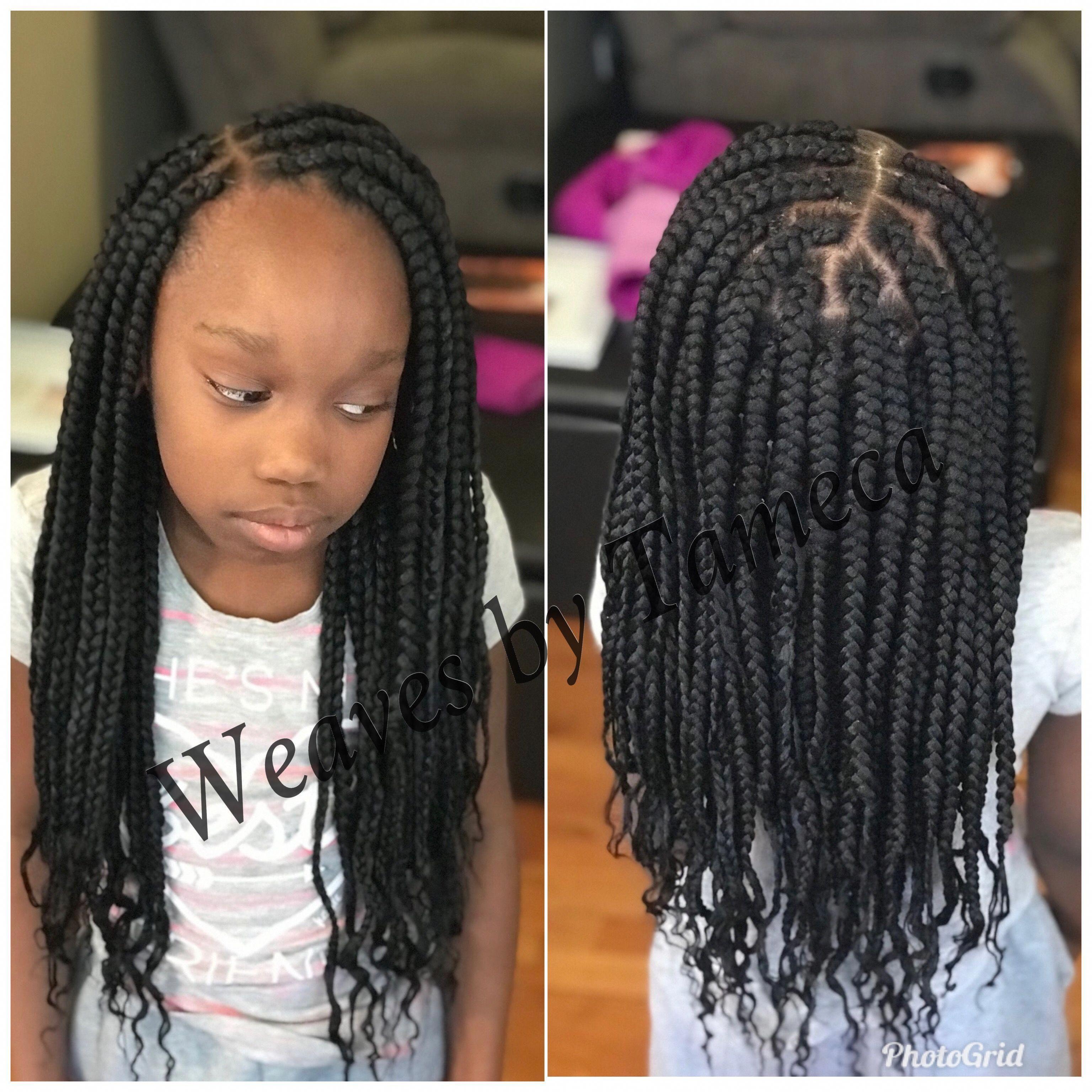 Kids Box Braids Braidedhairstyles Braids For Kids Kid Braid Styles Kids Braided Hairstyles