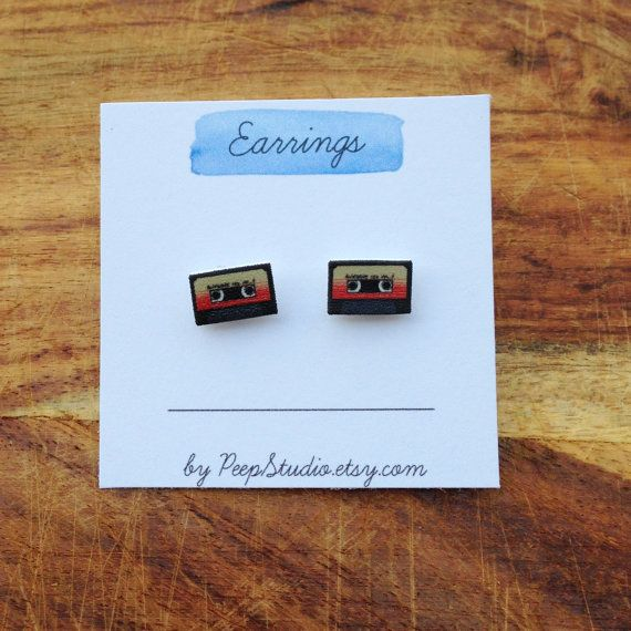 Guardians of the Galaxy Mix Tape Post Earrings