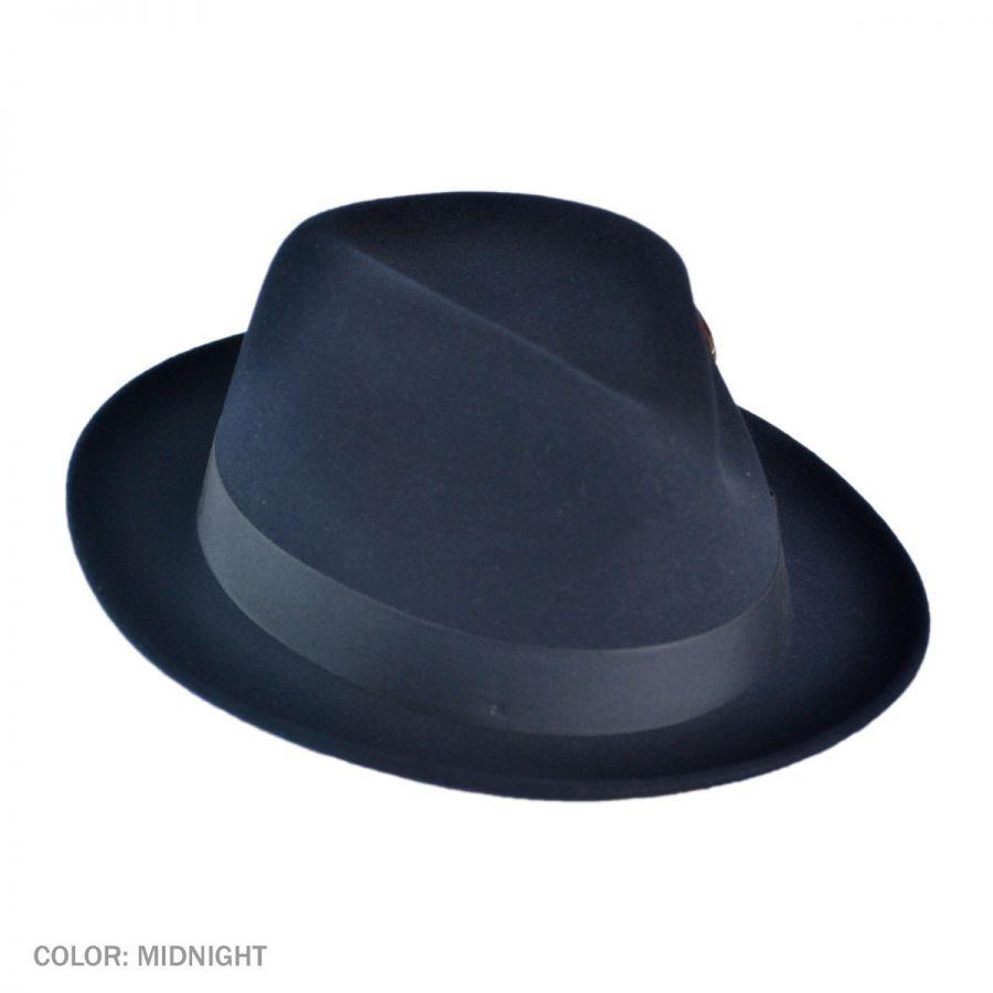 timeless design bced4 12908 fedora hats   Nitro Low Crown Fur Felt Fedora Hat