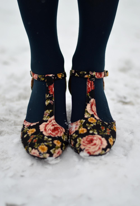 floral t-straps