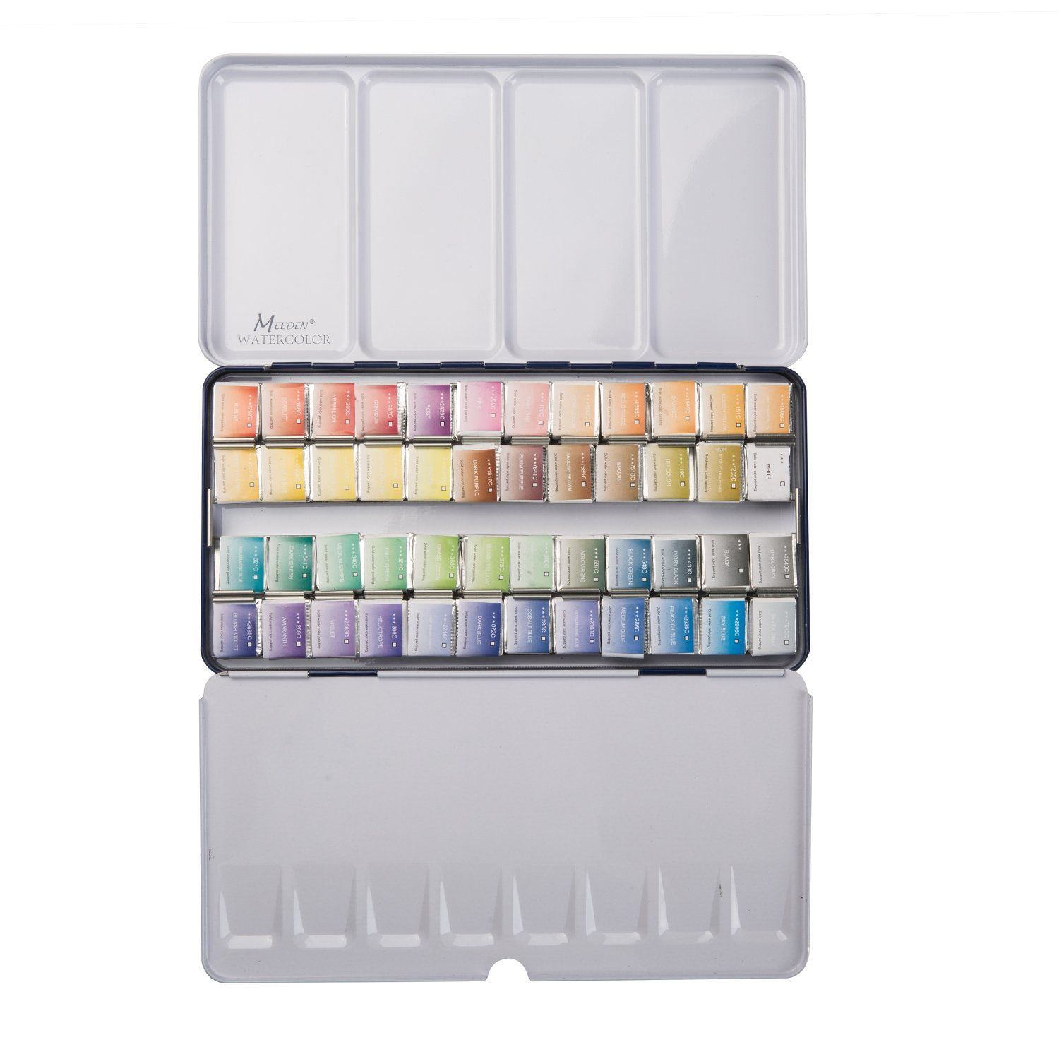 Meeden Art Watercolor Tin Palette Paint Set With 48 Colors Half