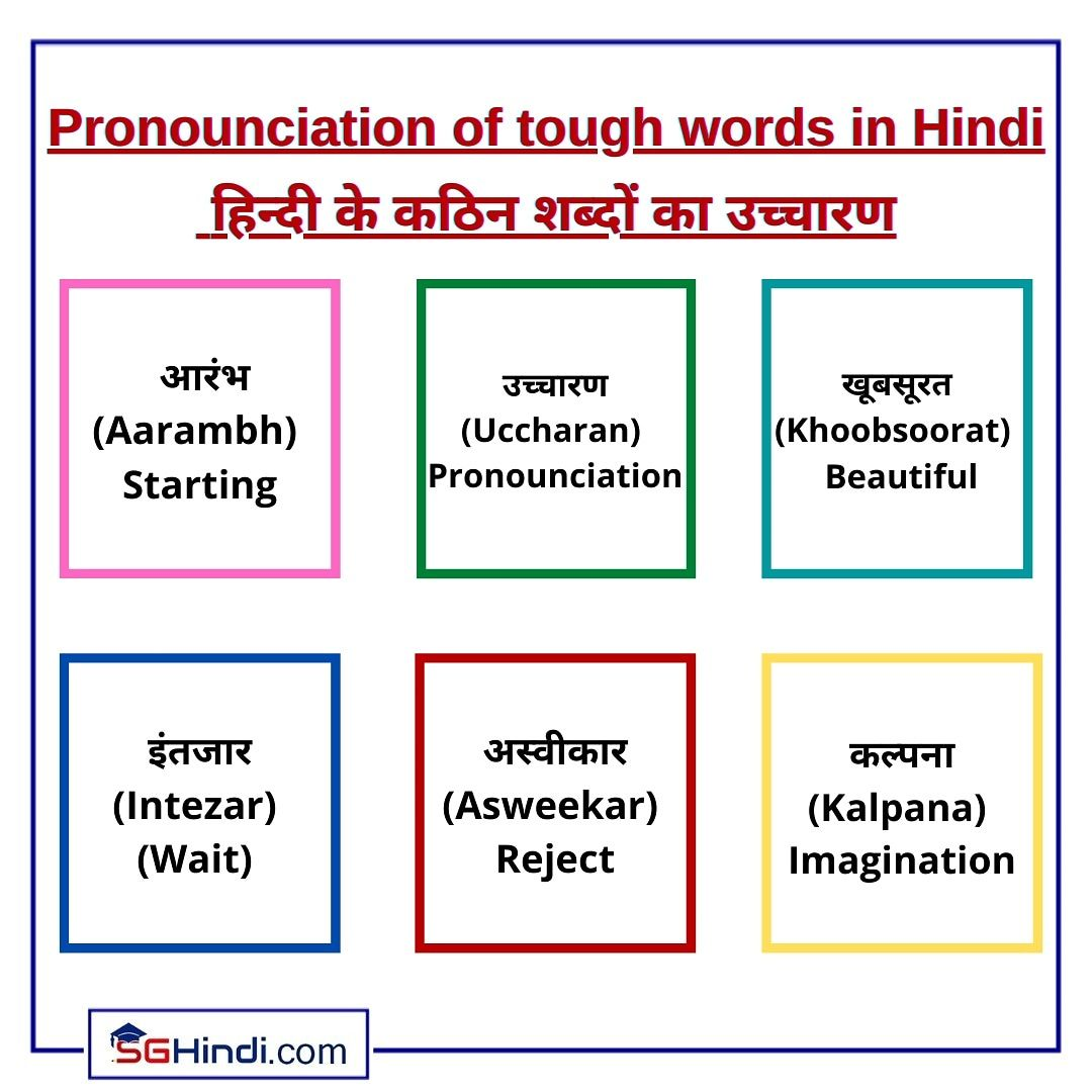 Pin By Sghindi On Hindi Basics In 2021 Words Tough Rejection [ 1080 x 1080 Pixel ]