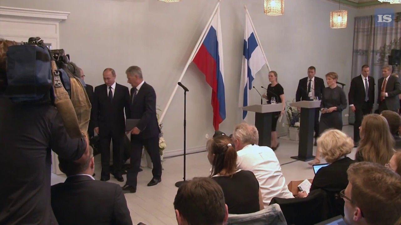 Presidentit Putin ja Niinistö Punkaharjulla