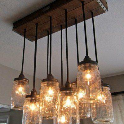 die besten 25 einmachglaslampe ideen auf pinterest einmachglas leuchten kronleuchter aus. Black Bedroom Furniture Sets. Home Design Ideas