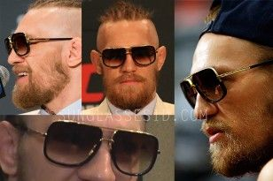 f821d0cd7b5 Conor McGregor wearing Dita Mach-One sunglasses at press conferences ...
