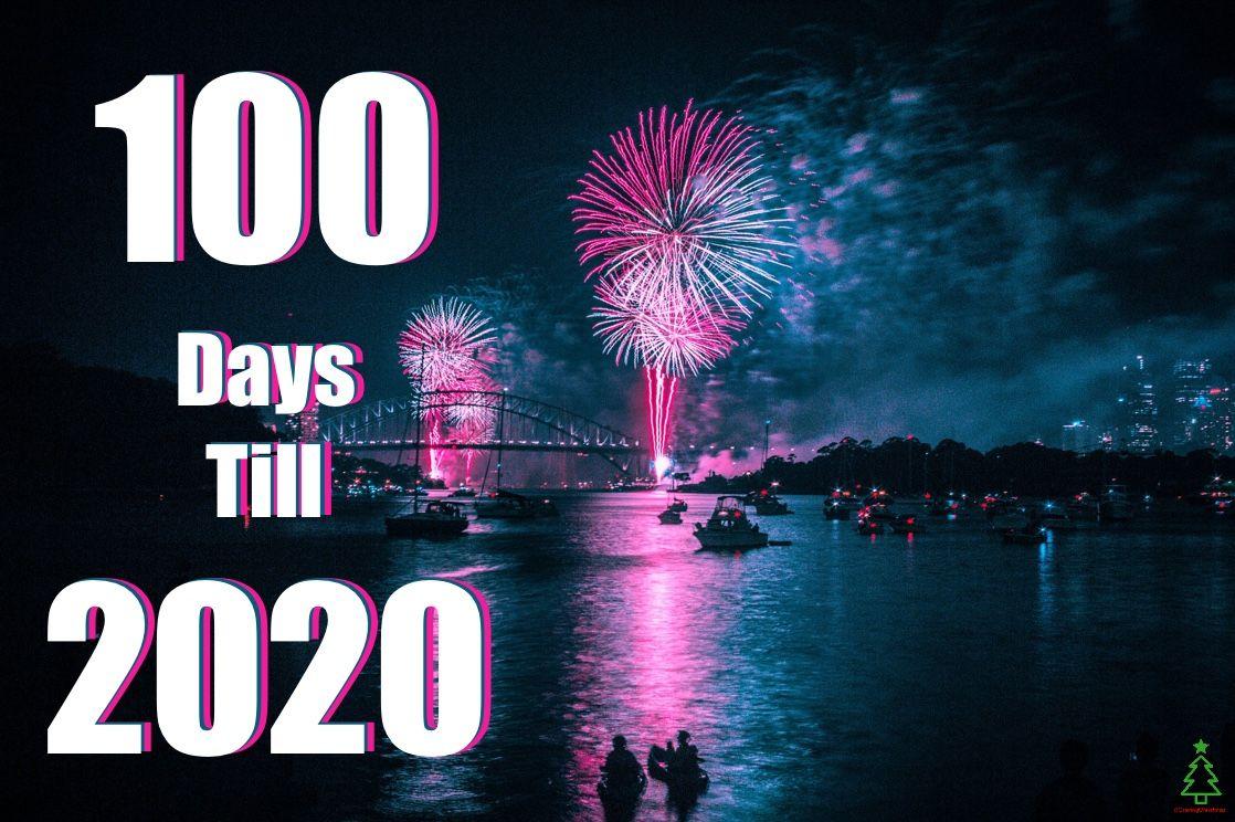 100 days till 2020 New years countdown, Felt christmas
