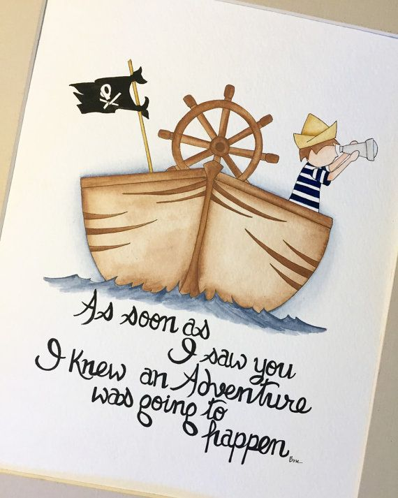 Boy Nursery Decor Little Pirate Watercolor More