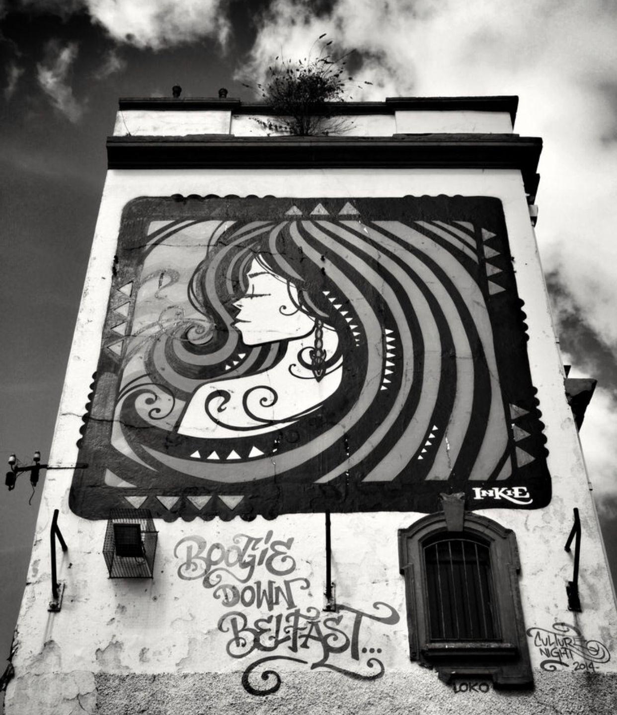 Letting her hair down street art pinterest