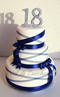 Val Di Zucchero 18 Anni Birthday Cakes Pinterest 18th Cake
