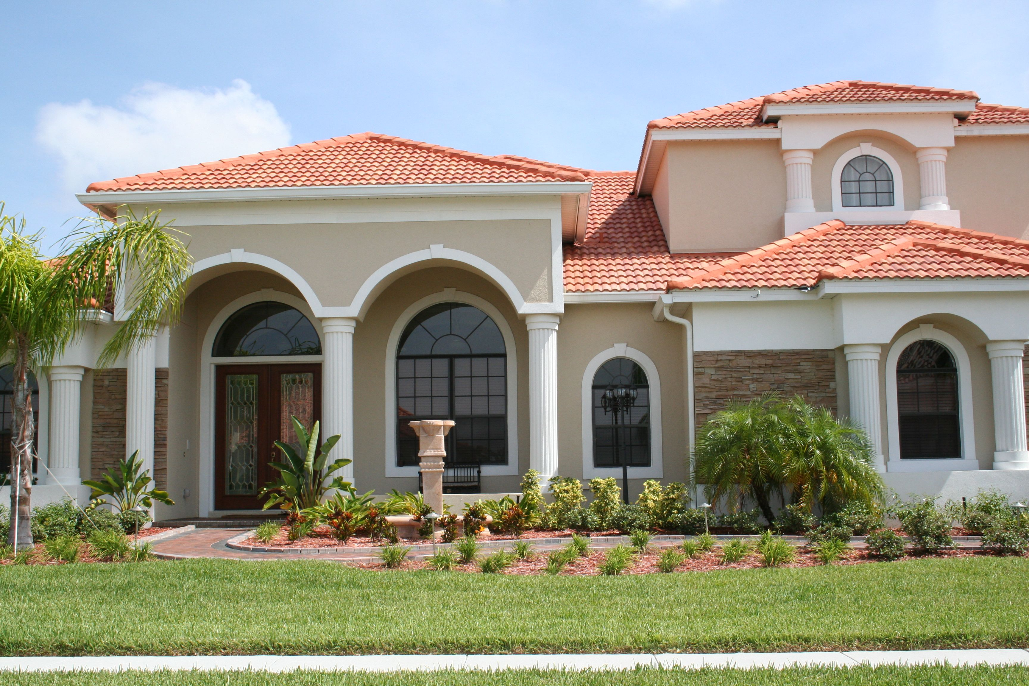 Custom Architectural Foam And Precast Mediterranean House Designs Stucco House Colors Facade House
