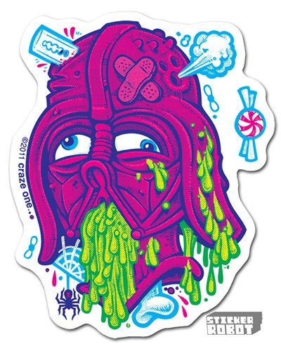 Darth vader clear vinyl diecut sticker
