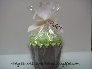 Step by Step Fuzzy Sock into Cupcake Gift Idea.