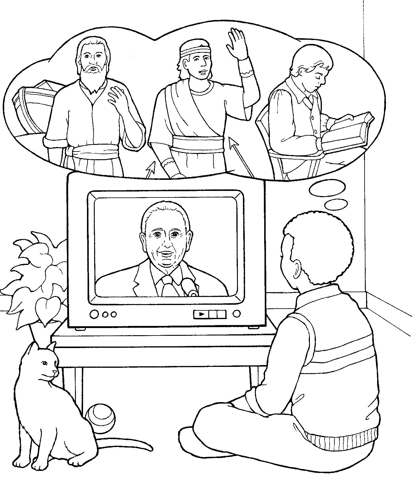 Watching Pres. Monson during General Conference. Children\'s Coloring ...