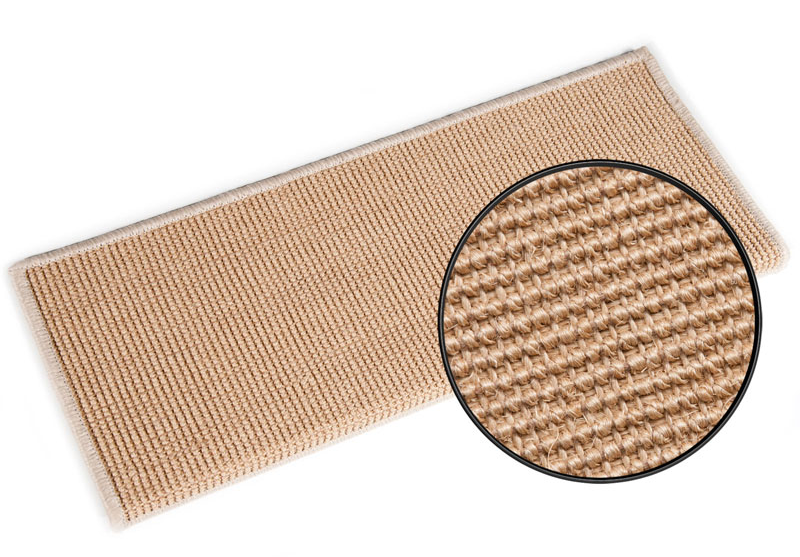 Best Rectangular Sisal Stair Treads Nature Suitable For All 400 x 300
