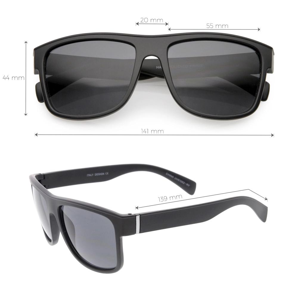 Men's Flat Top Action Sports Square Aviator Sunglasses C786