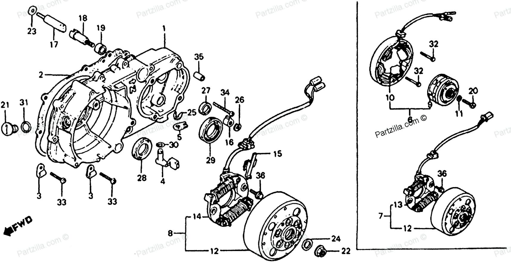 Honda Atv Parts Diagrams