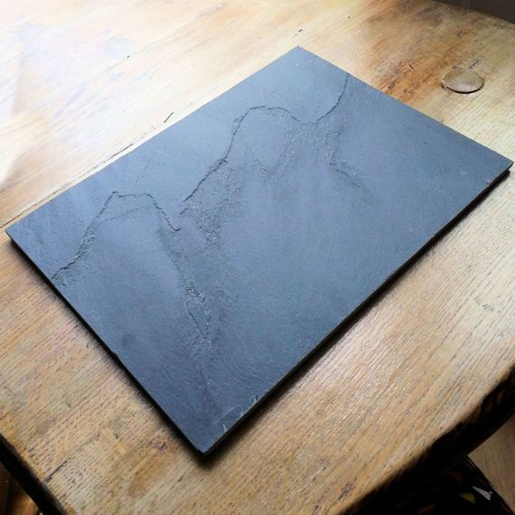 4 Natural Stone Slate Placemats Plate Mats Rustic Raw Dining Slate Placemats Slate Plate Placemats