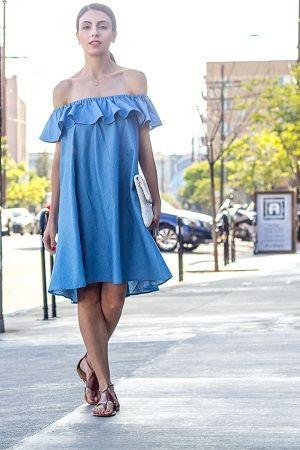 O vestido jeans foi destaque na NYFW verão 2017. Confira a tendência.