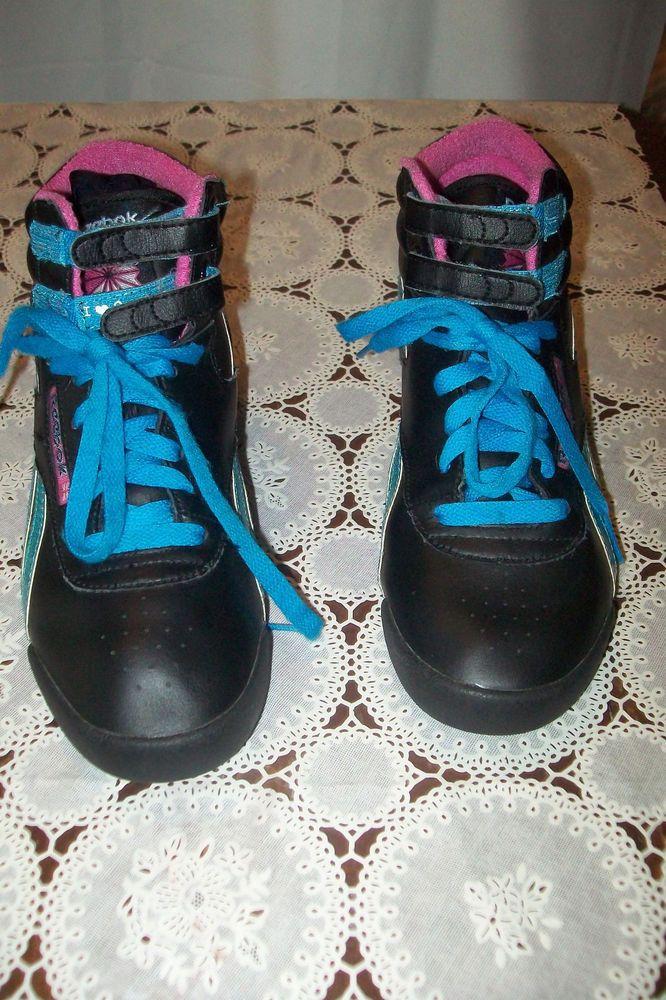 98c9a7d145f Womens Reebok Classic I heart 2 dance High Top Leather Sneakers Shoes Sz  4.5  Reebok