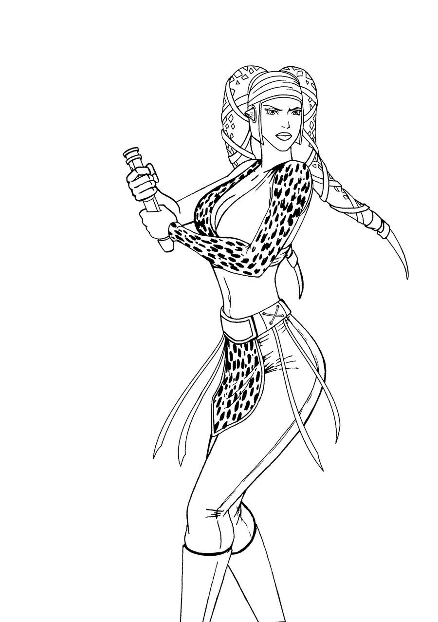 Aayla Secura Jedi lineart by JosephB222viantart on deviantART Star Wars