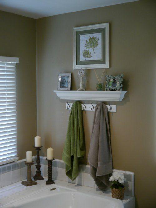 Uberlegen Coole Einrichtungsideen Fürs Kleine Badezimmer Tücher Grün Grau