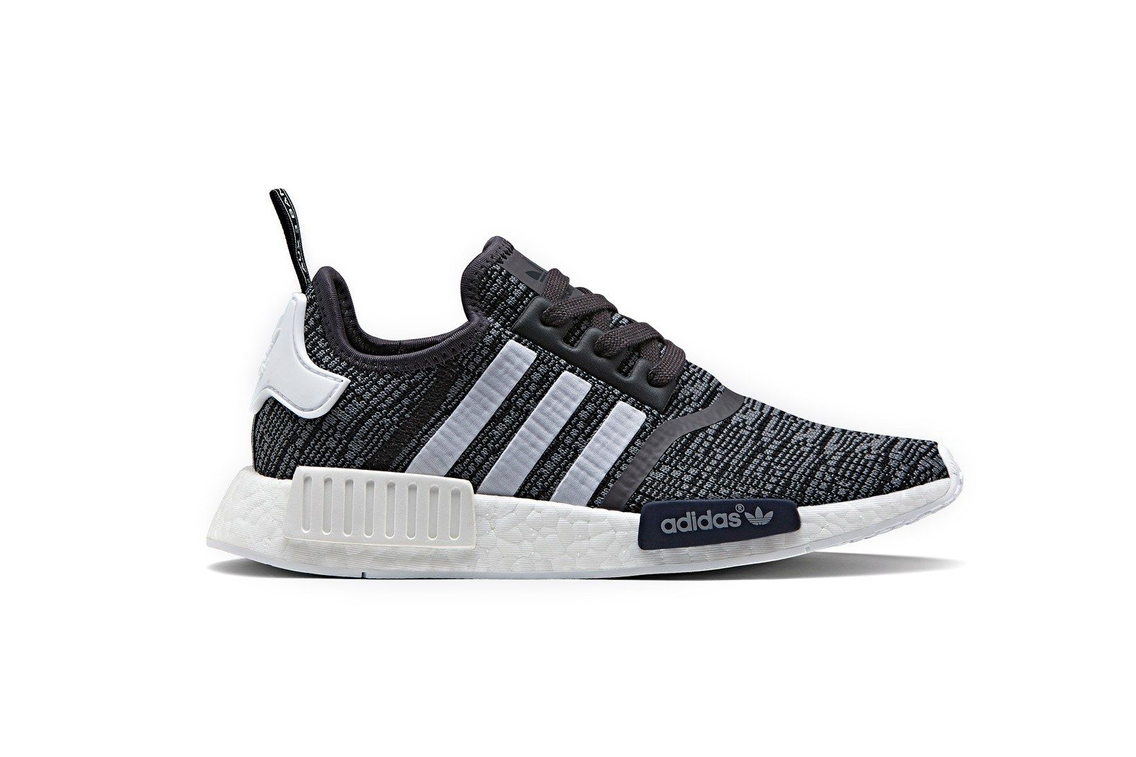 This New adidas NMD R1 Contrasts a Midnight Grey Upper With a