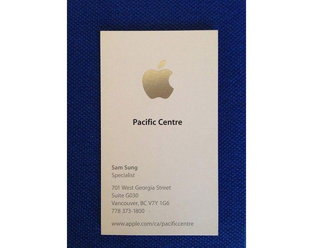 Tarjeta De Empleado Apple Con NombreSam Sung