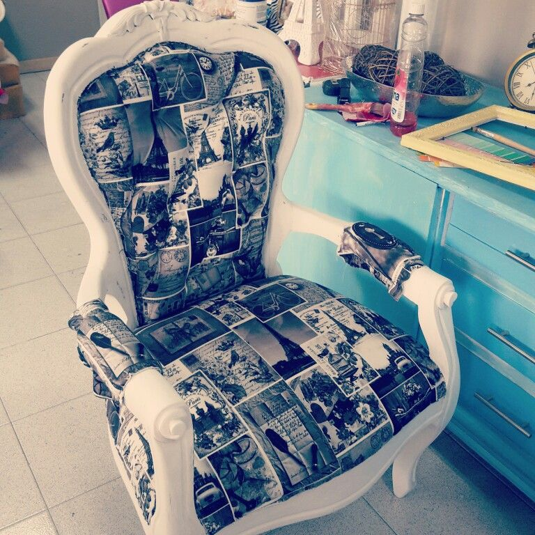 Silla luis xv vintage home pinterest sillas luis for Sillas blancas vintage