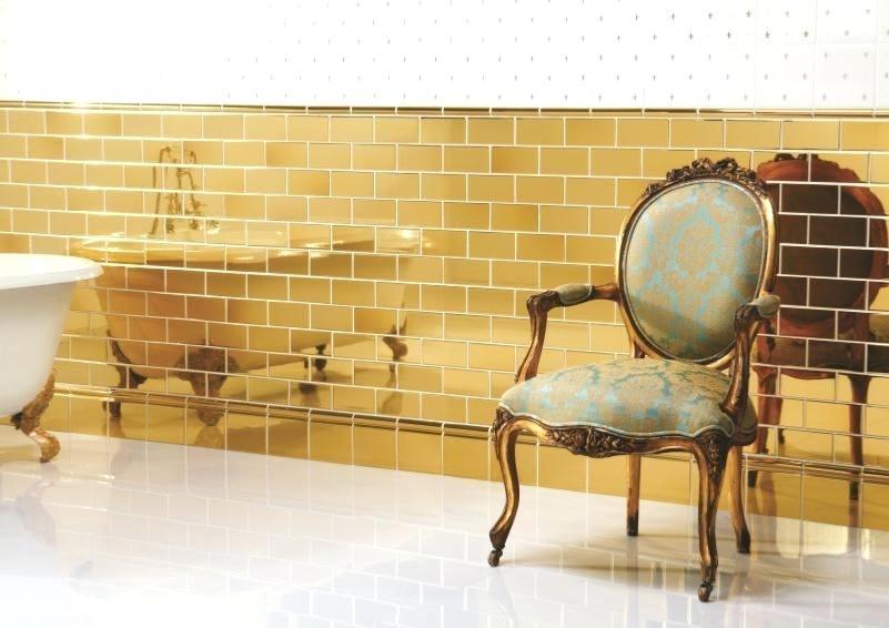 Gold Tiles Original Style Artworks Half Tile Mosaic Australia Machinery Rose Wall Gold Tile Style Tile Tiles