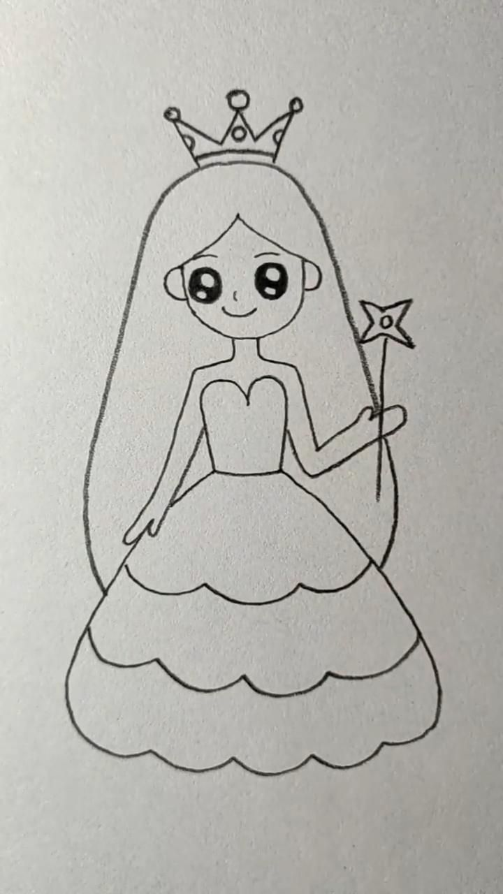 How To Draw A Princess Video In 2020 Disney Art Drawings Disney Drawings Sketches Cute Cartoon Drawings