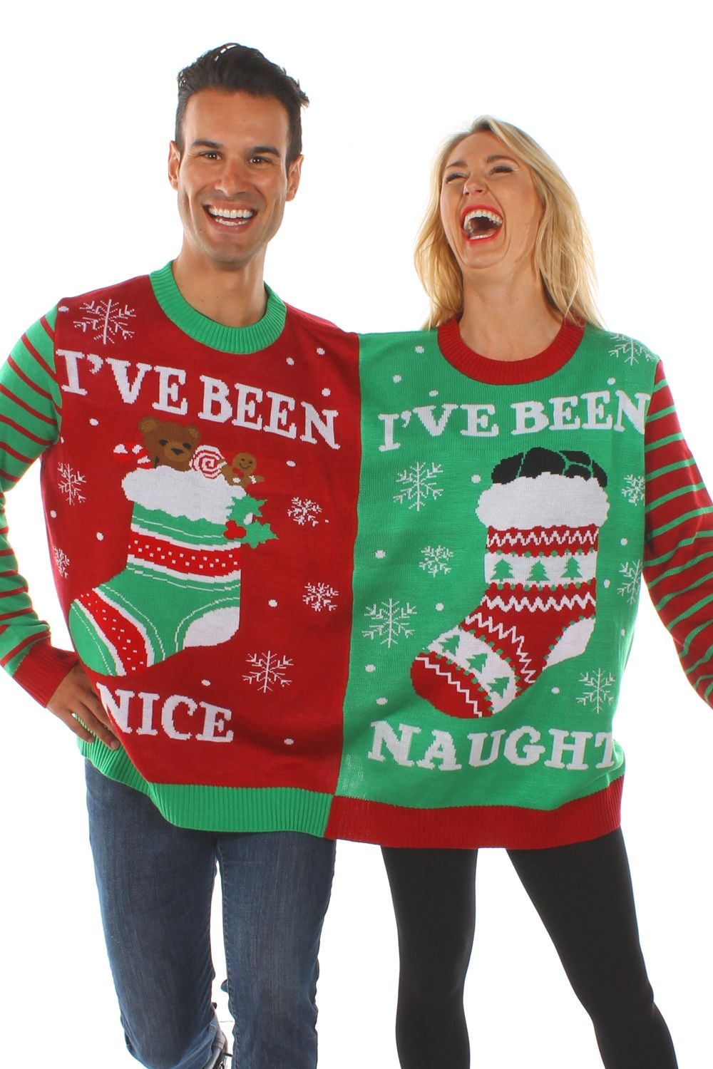 a991539dd7 Naughty and Nice Two-Person Sweater | Dreaming of a White Christmas ...