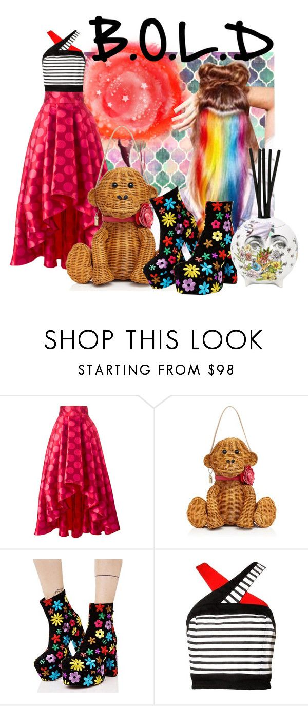 """""""Bold Style"""" by dizzier ❤ liked on Polyvore featuring Ultràchic, Kate Spade, Current Mood, Fornasetti and 192"""