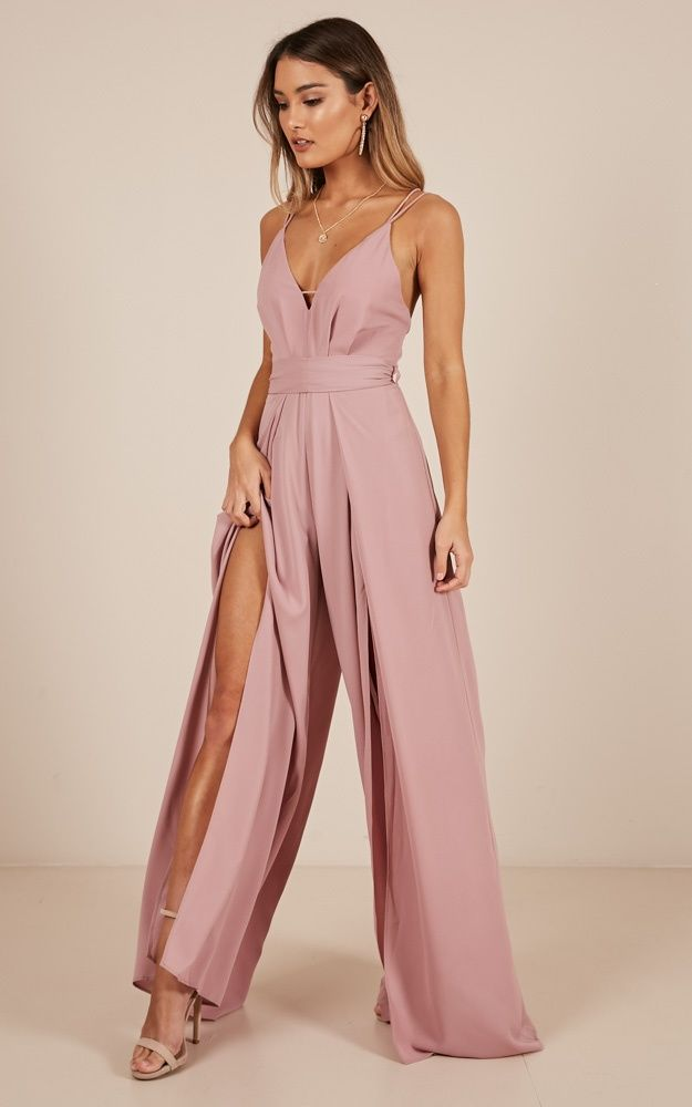 The Way I Am Jumpsuit In Blush Produced By SHOWPO #weddingguestdress