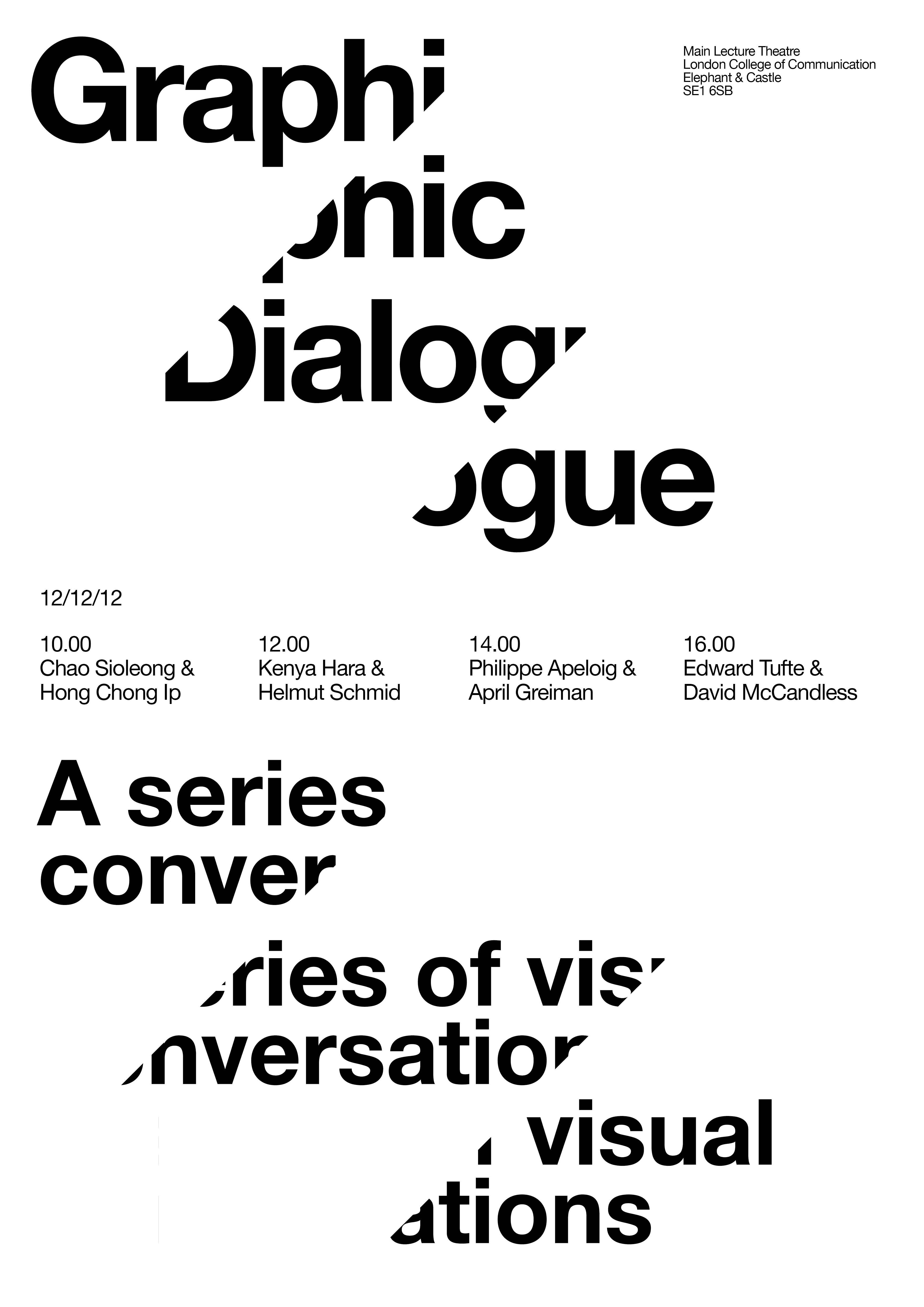 The lines created by slicing the text creates an opportunity to see the power of CONTINUATION within an image. The viewer is able to read the text, despite the words being separated on different lines.