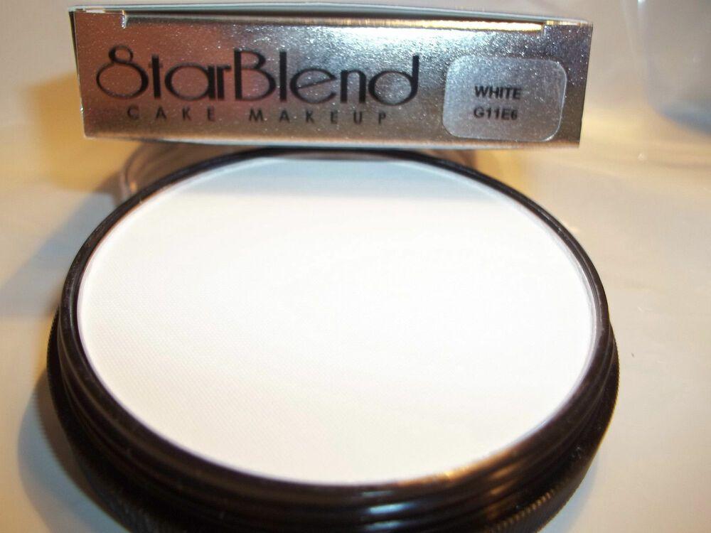 Mehron White Star Blend Cake Pancake Water Base Stage Makeup Professional Mehron Stage Makeup Professional Makeup Mehron