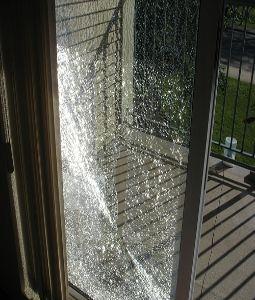 Broken Glass With Window Tint