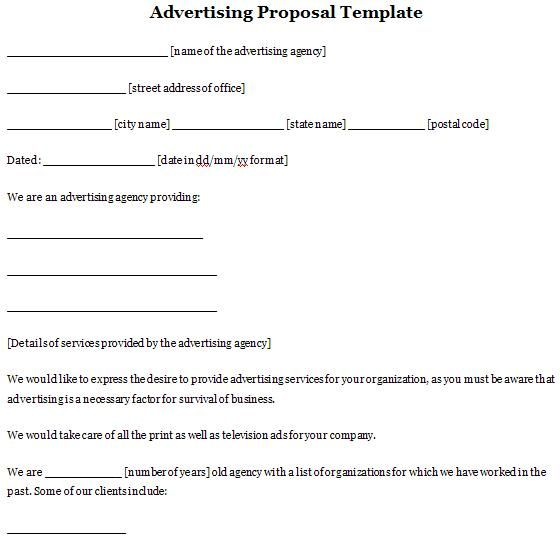 Advertising Proposal Template Sample Proposals Pinterest - proposal plan template