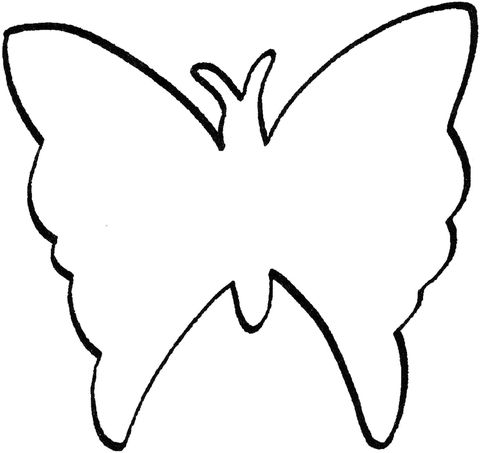 Blank Animal Shapes Templates Bing Images Butterfly Outline