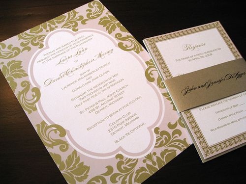 1000 images about WEDDING INVITATIONS Save The Dates on – Gold and Pink Wedding Invitations